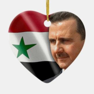 بشارالاسد de Bashar al-Assad Ornamento De Cerâmica Coração