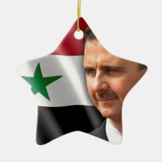بشارالاسد de Bashar al-Assad Ornamento De Cerâmica Estrela