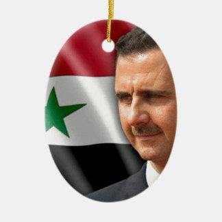 بشارالاسد de Bashar al-Assad Ornamento De Cerâmica Oval