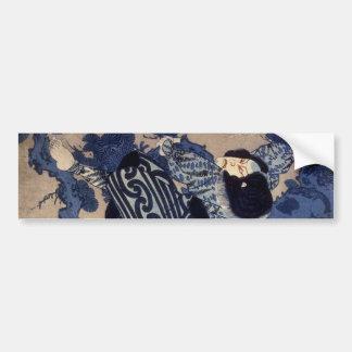 歌舞伎役者, ator de Kabuki do 国芳, Kuniyoshi, Ukiyo-e Adesivo Para Carro