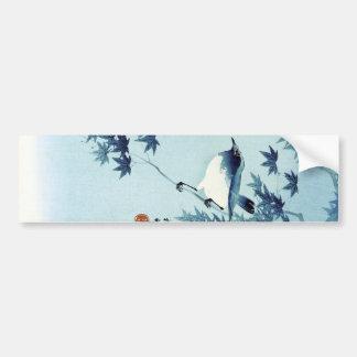 青い鳥, pássaro do 古邨 no azul, Koson, Ukiyo-e Adesivo Para Carro
