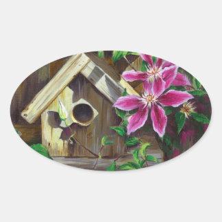 0003 etiquetas do Birdhouse & do Clematis