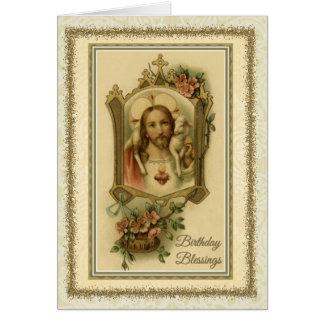 0030 cartão de aniversário religioso/católico