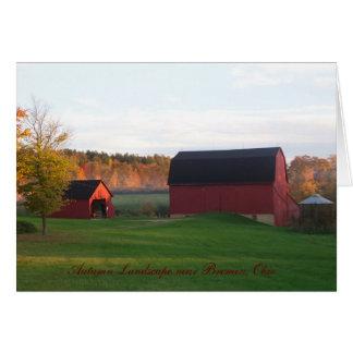100_4591, paisagem do outono perto de Brema, Ohio Cartão