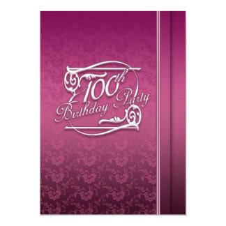 100th Convite moderno da festa de aniversário