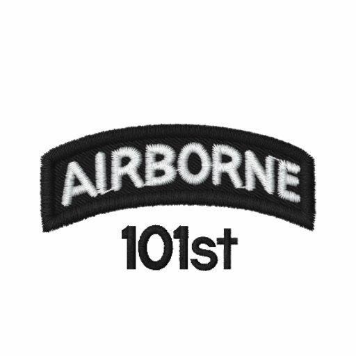 101st transportado por via aérea camisa polo bordada