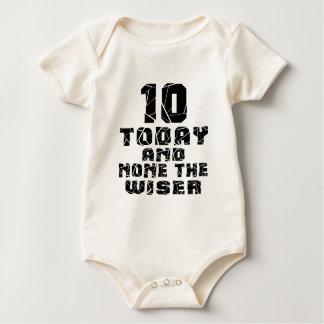 10 hoje e nenhuns o mais sábio macacãozinhos para bebê