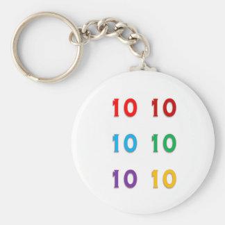 10ns décimos PRESENTES dos anos do aniversário do  Chaveiros