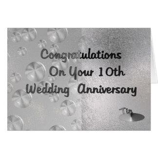 10o Aniversário de casamento Cartão Comemorativo