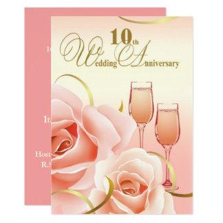 10o Convites da festa de aniversário do casamento