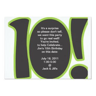10o O aniversário convida Convite 12.7 X 17.78cm