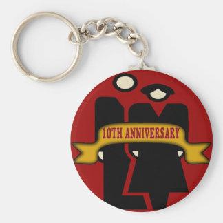 10o Presentes do aniversário de casamento Chaveiro