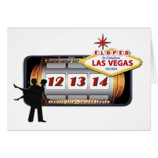 12.13.14 ELOPED no cartão fabuloso de Las Vegas