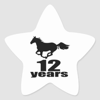 12 anos de design do aniversário adesito estrela