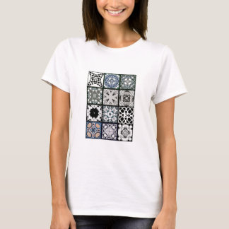 12 azulejos quadrados camiseta