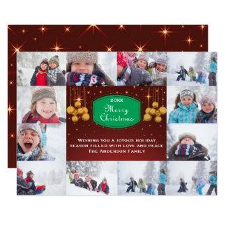 12 cartão do Feliz Natal Collage-5x7Christmas da