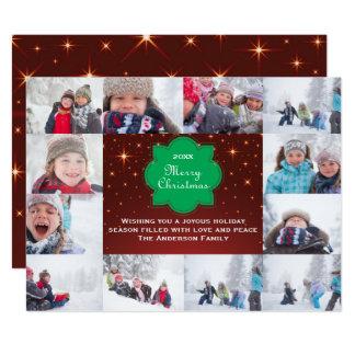 12 cartão do Feliz Natal Collage-6x8Christmas da