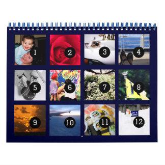 12 fotos para fazer ao seus próprios o calendário