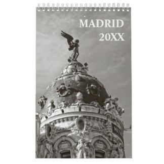 12 meses de calendário de Madrid