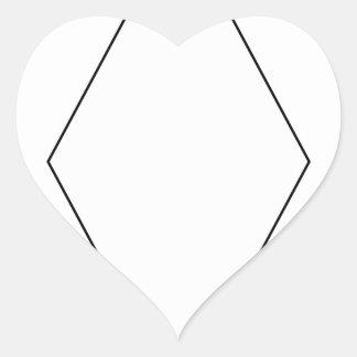 12o Divisão Adesivo Coração