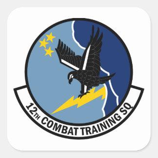 12o Esquadrão de treinamento do combate Adesivo Quadrado