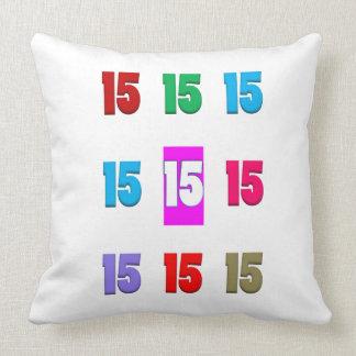 15a décima quinta data da rua do aniversário do an travesseiros
