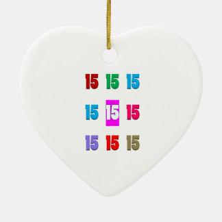 15a décima quinta data da rua do aniversário do an ornamento para arvore de natal