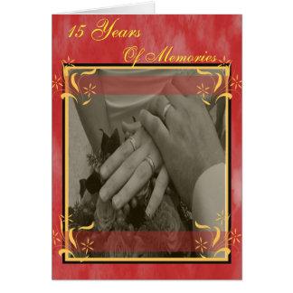 15o Aniversário de casamento Cartão Comemorativo