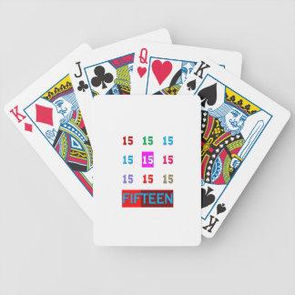 15o jogo da sala da idade do aniversário do aniver baralho para poker