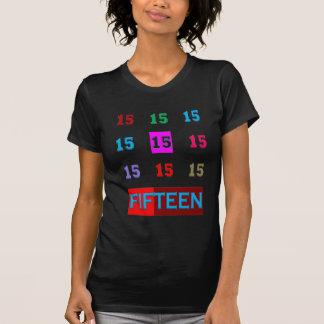 15o jogo da sala da idade do aniversário do t-shirt