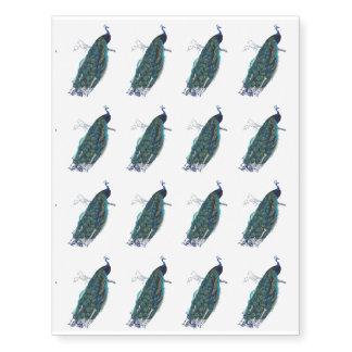 16 pavões azuis pequenos do vintage