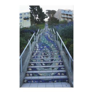 16o A avenida telhou canvas das etapas