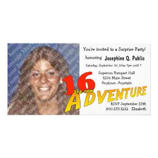 16o Convite da foto do partido de aventura do Cartão Com Foto