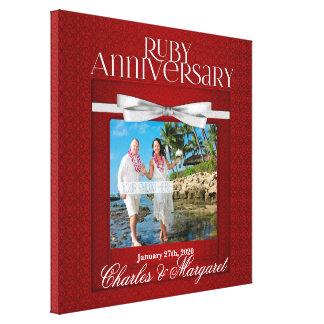 16x16 costume da foto do aniversário do rubi 60th impressão em tela