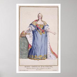 1717-80) imperatrizes de Maria Theresa (de Áustria Poster