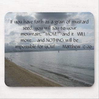 17:20 de Matthew - citações inspiradas inspiradore Mouse Pad