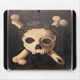 17o CEN. Crânio do praga preto & Crossbones Mouse Pad
