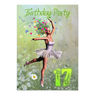 17o Convite de aniversário Convite 12.7 X 17.78cm