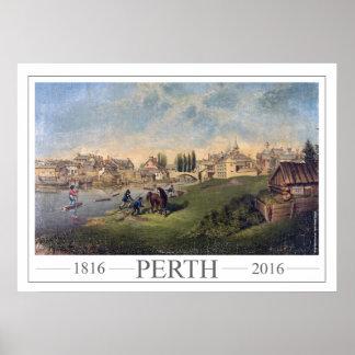 1853 Perth de pintura histórico Ontário Pôster
