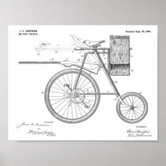 1899 forças armadas Bicycle o impressão do desenho