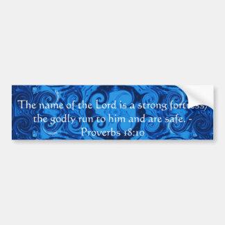 18:10 inspirado dos provérbio do verso da bíblia adesivos