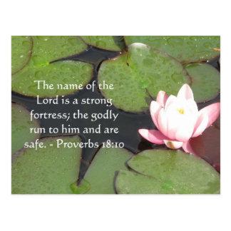 18:10 inspirado dos provérbio do verso da bíblia cartão postal
