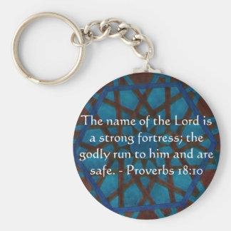 18:10 inspirado dos provérbio do verso da bíblia chaveiro