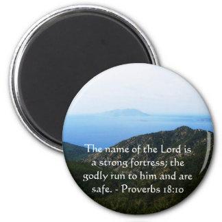 18:10 inspirado dos provérbio do verso da bíblia ímã redondo 5.08cm