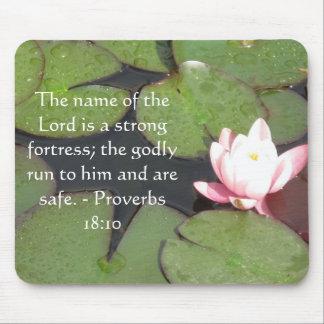 18:10 inspirado dos provérbio do verso da bíblia mouse pad