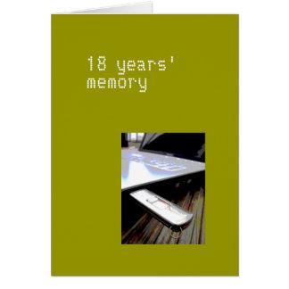 18 anos de cartão