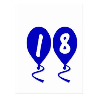 18 balões do aniversário cartão postal