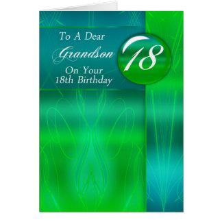 18o Neto do aniversário moderno Cartão Comemorativo