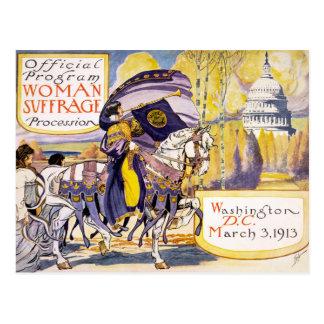 1913 Washington DC do março dos direitos das Cartão Postal
