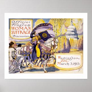 1913 Washington DC do março dos direitos das Pôster